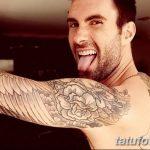 Фото Тату Адама Левина от 21.09.2018 №067 - Adam Levine tattoo - tatufoto.com