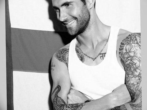 Фото Тату Адама Левина от 21.09.2018 №077 - Adam Levine tattoo - tatufoto.com