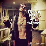 Фото Тату Адама Левина от 21.09.2018 №079 - Adam Levine tattoo - tatufoto.com