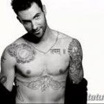 Фото Тату Адама Левина от 21.09.2018 №081 - Adam Levine tattoo - tatufoto.com