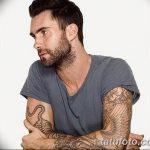 Фото Тату Адама Левина от 21.09.2018 №082 - Adam Levine tattoo - tatufoto.com