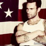Фото Тату Адама Левина от 21.09.2018 №083 - Adam Levine tattoo - tatufoto.com