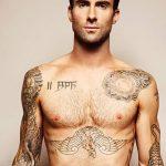Фото Тату Адама Левина от 21.09.2018 №086 - Adam Levine tattoo - tatufoto.com