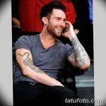 Фото Тату Адама Левина от 21.09.2018 №088 - Adam Levine tattoo - tatufoto.com