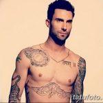 Фото Тату Адама Левина от 21.09.2018 №089 - Adam Levine tattoo - tatufoto.com
