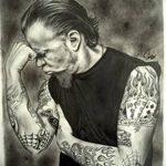 Фото Тату Джеймса Хэтф от 10.09.2018 №003 - James Hatfield Tattoo - tatufoto.com