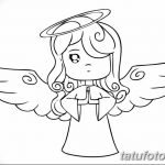 Simple Drawing Of An Angel Barbie | Tattoo Drawings, Angel Drawi