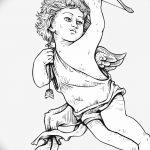 Фото Эскиз тату купидон от 11.09.2018 №003 - Sketch of tattoo cupid - tatufoto.com