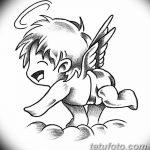 Фото Эскиз тату купидон от 11.09.2018 №005 - Sketch of tattoo cupid - tatufoto.com