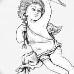 Фото Эскиз тату купидон от 11.09.2018 №006 - Sketch of tattoo cupid - tatufoto.com