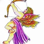 Фото Эскиз тату купидон от 11.09.2018 №008 - Sketch of tattoo cupid - tatufoto.com