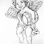 Фото Эскиз тату купидон от 11.09.2018 №015 - Sketch of tattoo cupid - tatufoto.com