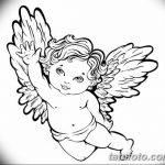 Фото Эскиз тату купидон от 11.09.2018 №016 - Sketch of tattoo cupid - tatufoto.com