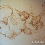 Фото Эскиз тату купидон от 11.09.2018 №017 - Sketch of tattoo cupid - tatufoto.com