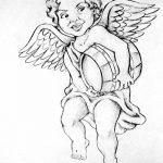 Фото Эскиз тату купидон от 11.09.2018 №019 - Sketch of tattoo cupid - tatufoto.com