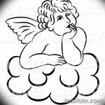 Фото Эскиз тату купидон от 11.09.2018 №021 - Sketch of tattoo cupid - tatufoto.com