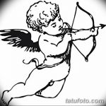 Фото Эскиз тату купидон от 11.09.2018 №022 - Sketch of tattoo cupid - tatufoto.com