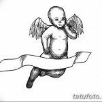 Фото Эскиз тату купидон от 11.09.2018 №024 - Sketch of tattoo cupid - tatufoto.com