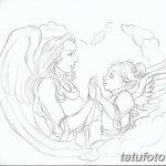 Фото Эскиз тату купидон от 11.09.2018 №030 - Sketch of tattoo cupid - tatufoto.com