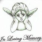 Фото Эскиз тату купидон от 11.09.2018 №033 - Sketch of tattoo cupid - tatufoto.com