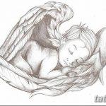Фото Эскиз тату купидон от 11.09.2018 №034 - Sketch of tattoo cupid - tatufoto.com