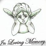Фото Эскиз тату купидон от 11.09.2018 №035 - Sketch of tattoo cupid - tatufoto.com