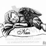 Фото Эскиз тату купидон от 11.09.2018 №036 - Sketch of tattoo cupid - tatufoto.com