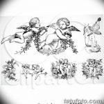 Фото Эскиз тату купидон от 11.09.2018 №037 - Sketch of tattoo cupid - tatufoto.com