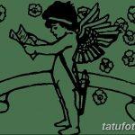 Фото Эскиз тату купидон от 11.09.2018 №038 - Sketch of tattoo cupid - tatufoto.com