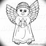Фото Эскиз тату купидон от 11.09.2018 №040 - Sketch of tattoo cupid - tatufoto.com