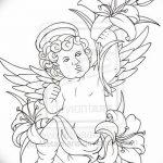 Фото Эскиз тату купидон от 11.09.2018 №041 - Sketch of tattoo cupid - tatufoto.com