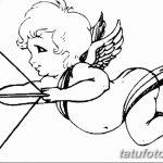 Фото Эскиз тату купидон от 11.09.2018 №045 - Sketch of tattoo cupid - tatufoto.com