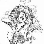 Фото Эскиз тату купидон от 11.09.2018 №050 - Sketch of tattoo cupid - tatufoto.com