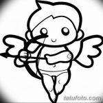 Фото Эскиз тату купидон от 11.09.2018 №053 - Sketch of tattoo cupid - tatufoto.com