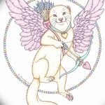 Фото Эскиз тату купидон от 11.09.2018 №062 - Sketch of tattoo cupid - tatufoto.com