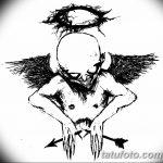 Фото Эскиз тату купидон от 11.09.2018 №064 - Sketch of tattoo cupid - tatufoto.com