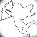 Фото Эскиз тату купидон от 11.09.2018 №067 - Sketch of tattoo cupid - tatufoto.com