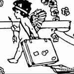 Фото Эскиз тату купидон от 11.09.2018 №079 - Sketch of tattoo cupid - tatufoto.com