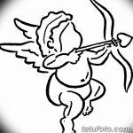 Фото Эскиз тату купидон от 11.09.2018 №080 - Sketch of tattoo cupid - tatufoto.com