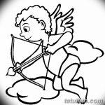Фото Эскиз тату купидон от 11.09.2018 №083 - Sketch of tattoo cupid - tatufoto.com