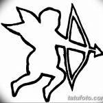Фото Эскиз тату купидон от 11.09.2018 №086 - Sketch of tattoo cupid - tatufoto.com