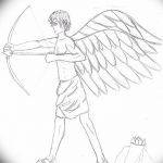 Фото Эскиз тату купидон от 11.09.2018 №091 - Sketch of tattoo cupid - tatufoto.com
