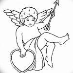 Фото Эскиз тату купидон от 11.09.2018 №095 - Sketch of tattoo cupid - tatufoto.com