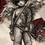 Фото Эскиз тату купидон от 11.09.2018 №096 - Sketch of tattoo cupid - tatufoto.com