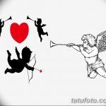 Фото Эскиз тату купидон от 11.09.2018 №108 - Sketch of tattoo cupid - tatufoto.com