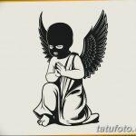 Фото Эскиз тату купидон от 11.09.2018 №109 - Sketch of tattoo cupid - tatufoto.com