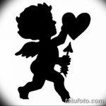 Фото Эскиз тату купидон от 11.09.2018 №112 - Sketch of tattoo cupid - tatufoto.com