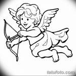 Фото Эскиз тату купидон от 11.09.2018 №114 - Sketch of tattoo cupid - tatufoto.com
