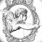 Фото Эскиз тату купидон от 11.09.2018 №123 - Sketch of tattoo cupid - tatufoto.com