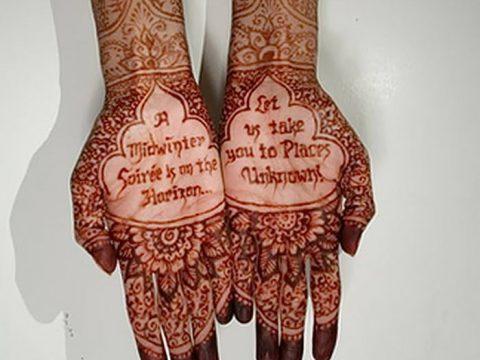 Фото мехенди надписи от 14.09.2018 №010 - mehendi inscriptions - tatufoto.com